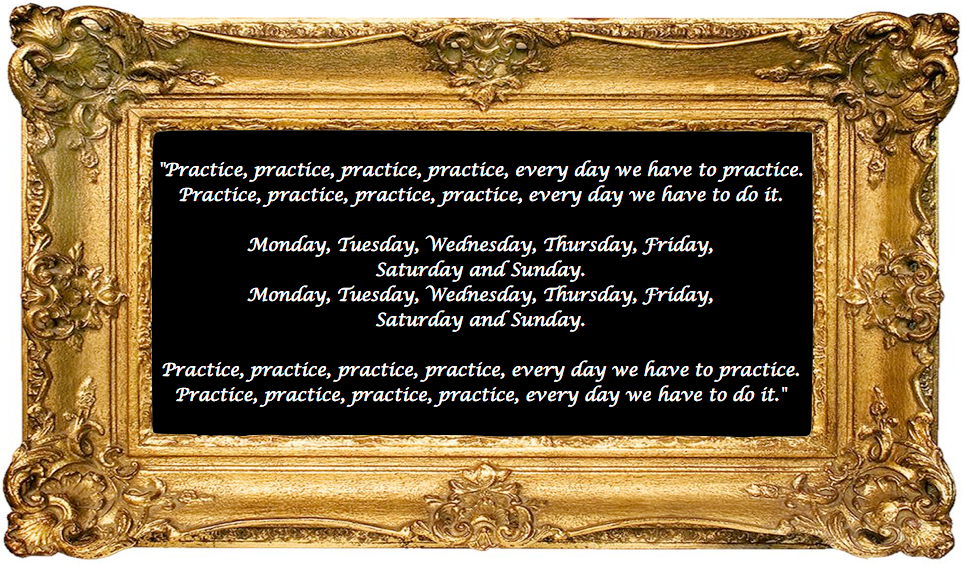 Practice, practice, by Sue Hunt, Music in Practice